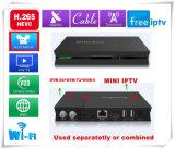 Rectángulo superior determinado de Ipremium I9 con el satélite Receiver/DVB-C/DVB-T/T2 y el rectángulo libre de IPTV