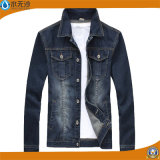 Form-Denim-Baumwolljean-Mantel der neuen Männer Outwear Umhüllung