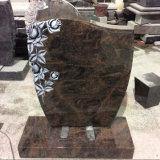 Lápidas mortuarias talladas mano del granito de la aurora de Rose