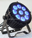Aantrekkelijke RGBWA 5 in-1 LED 9X12W Waterproof LED PAR 64 Outdoor PAR Lighting