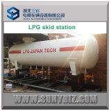 станция насоса бака для хранения 40m3 LPG установленная скидом