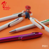 Stylo bille en plastique bon marché de crayon lecteur promotionnel de remplissage de l'aperçu gratuit 1.0mm