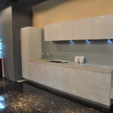 Projeto de vidro do gabinete de cozinha do envoltório do vinil da mobília da HOME modular da porta do frame de alumínio