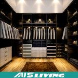 Caminhada luxuosa do revestimento da madeira contínua no Wardrobe do armário (AIS-W177)