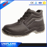 Zapatos de trabajo de la seguridad de la PU de la punta de acero respirable únicos S1p Ufa076