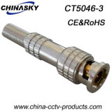 CCTV Connector Male BNC con Screw e Long Metal Boot (CT5046-3)