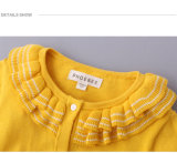 Long chandail 100% de crochet de filles de chemise de coton