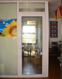 Qualitäts-weißer Puder-überzogener thermischer Bruch-Aluminiumflügelfenster-Tür Kz275