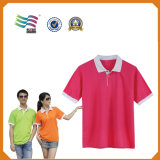 T-shirt blanc de polo de Costom des prix meilleur marché en gros d'usine (HYT-s 01)