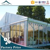 PVC européen Fabric Glass Wall Party Ceremony Tent de Style 25X35m White pour 500 People