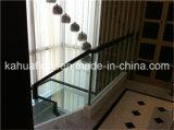 Corrimão de madeira de vidro da escadaria da forma moderna
