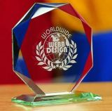 Premio di cristallo di vendita calda 2016 con il marchio di abitudine del laser