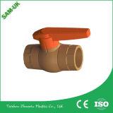 Válvula da fonte UPVC da fábrica, de união do PVC única válvulas, soquete ou linha de esfera para os encaixes Pn10 do PVC, Pn16