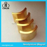 De goud Geplateerde Magneet van de Motor van de Boog van het Neodymium Permanente