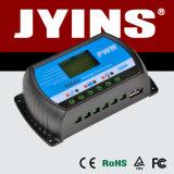 Carregador da exposição 12V/24V/48V 10A/20A/30A PWM do LCD/controlador solares inteligentes da carga