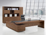 木のコンピュータ表のMorden Excutiveの事務机(SZ-ODL338)の最新のオフィスデザイン