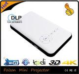 Миниая работа репроектора СИД с франтовскими телефонами Android репроектора HD 1080P DLP 3D портативная пишущая машинка iPad /Ios/Phone/PC/TV микро-