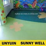 Feuerfestigkeit-Park-hochwertiger heißer Verkauf PVC-reiner Farbe PVC-Werbungs-Fußboden