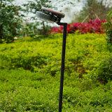 Lumière de jardin/lampe solaires de pelouse avec le panneau solaire de silicium à haute teneur