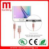 Câble tressé en nylon de charge de synchro d'USB 2.0 pour Samsung