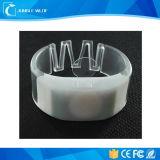 Wristbands de piscamento pstos AAA brilhantes super do diodo emissor de luz RFID do diodo emissor de luz 3PCS (funcionamento 10hours)