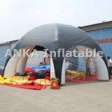 Черный раздувной шатер купола ног для мероприятий на свежем воздухе