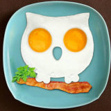 El buho de categoría alimenticia al por mayor aprobado por la FDA formó el molde frito silicón del huevo