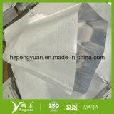 Tissu ignifuge de fibre de verre de papier d'aluminium, clinquant en stratifié