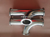 Stainless Steel Sanitária Especial Clamped Tee