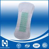 Serviette hygiénique anionique en coton super doux de 180 mm, doublure en coton avec pulpe de bois pour le marché américain