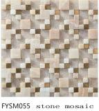 Parede do material de construção da casa e para o mosaico da pedra do mármore da natureza