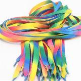 Lacets plats colorés de polyester