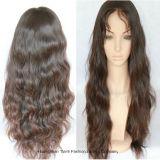 """24 """" pelucas flojas del cordón de la onda de la peluca llena del cordón del pelo el 150% de Non-Remy"""