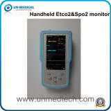De handbediende Monitor eind-Getijde van Co2 (ETCO2)/Impuls Oximeter, Heersende stroming/Sidestream
