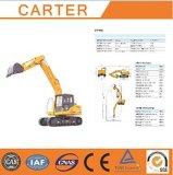 Excavatrice résistante multifonctionnelle de pelle rétro de chenille de Carter CT150-8c