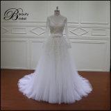 Robes de mariage détachables de jupe de lacet