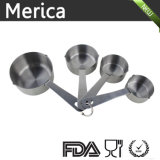 ステンレス鋼6部分の便利な開いた様式のリングが付いているスタック可能測定スプーンセット