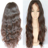 """peruca cheia personalizada 180% reta do laço de 30 """" perucas do cabelo #1b"""
