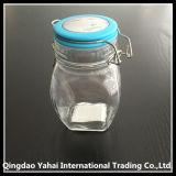 tarro de cristal oval del almacenaje 320ml