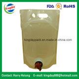 Ясный мешок в коробке с Spout для вина или чисто воды