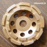 두 배 줄 은에 의하여 놋쇠로 만들어지는 다이아몬드 컵 바퀴, 회전 숫돌