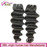 100人のインド人のバージン人間水波の毛の織り方