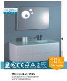 Cabina de cuarto de baño blanca colgante moderna de Italia de la curva con el lavabo de cristal