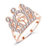 CZ 다이아몬드 여자 (CRI01004)를 위한 충성하는 크라운 반지