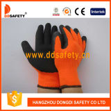 Ddsafety 2017 Fluorescence Acrylic Coating Black Latex Gloves
