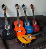 Chitarra poco costosa del classico di pratica di colore di prezzi della fabbrica della chitarra della Cina