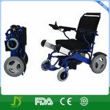 Cadeira de rodas de pouco peso de viagem ao ar livre da energia eléctrica da dobradura para idoso e enfermos
