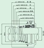 Selo mecânico para a única extremidade (HG9)