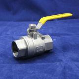 2PC completa taladro de la válvula de bola de acero inoxidable con el certificado del CE (Q11F-64P)