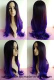 Parrucca diritta lunga di pendenza di vendita dei capelli di colore sintetico caldo del doppio